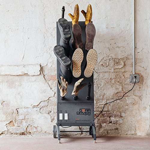 GearDryer Wall Mount 12 Boot and Glove Dryer | 6 Pair Boot, Shoe, and Glove Dryer | Dryer and Warmer for Ski Boots, Work Boots, Athletics, and More by GEAR DRYER DRY = WARM (Image #5)