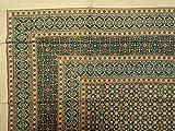 Handmade Moroccan Foulard Print 100% Cotton Tapestry Tablecloth Bedspread Beach Sheet Full 88'' x 106''