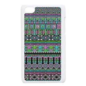Personalized AXL378158 Durable Cell Phone Case For Ipod Touch 4 Cover Case w/ Aztec Pattern