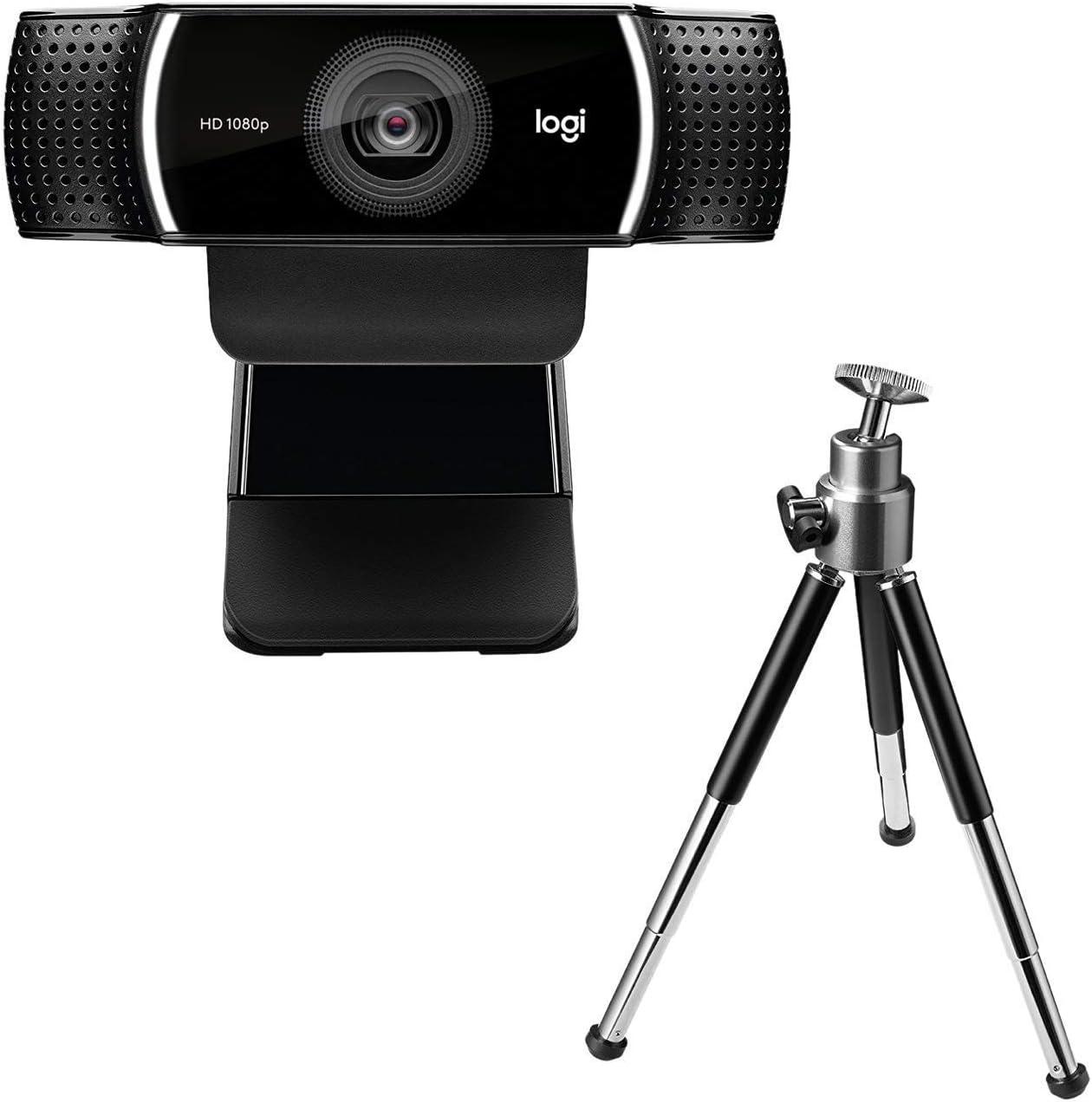 Logitech C922 Pro Stream - Cámara Web para streaming en serio con superrápido HD 720p a 60 fps, con trípode y licencia gratuita de 3 meses para XSplit - Negro