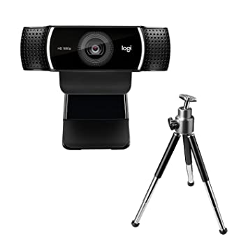 ad550d487d7 Logitech C922 Pro Stream Webcam, Full HD 1080p Streaming with Tripod and  Free 3-