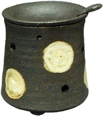 常滑焼・焜清 カ39-08 茶香炉 ドット 径9.5×9.5cm