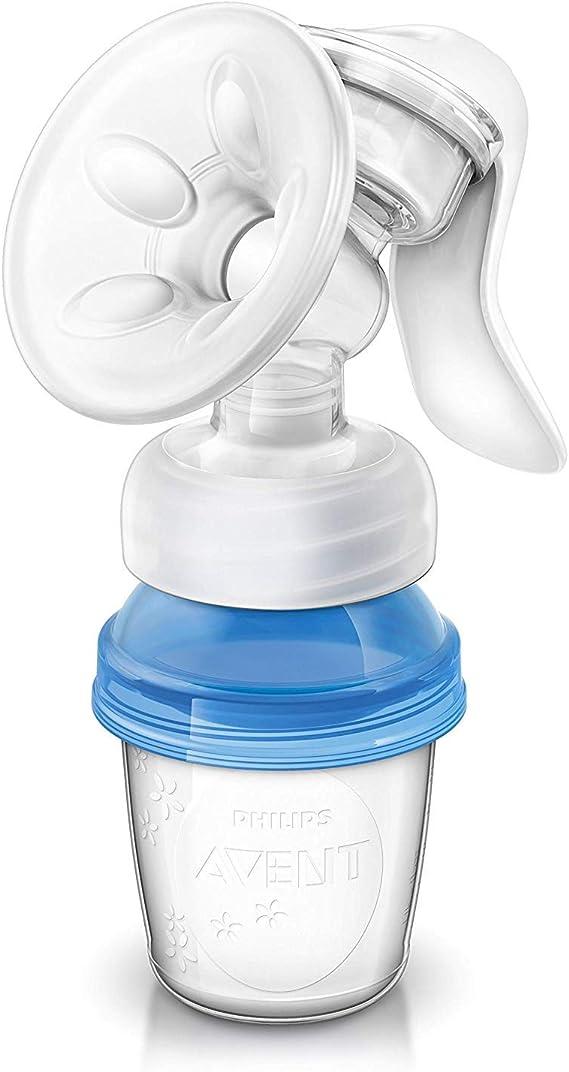 Philips Avent SCF330/13 - Extractor de leche manual, con cojín masajeador y 3 vasos de almacenamiento: Amazon.es: Salud y cuidado personal