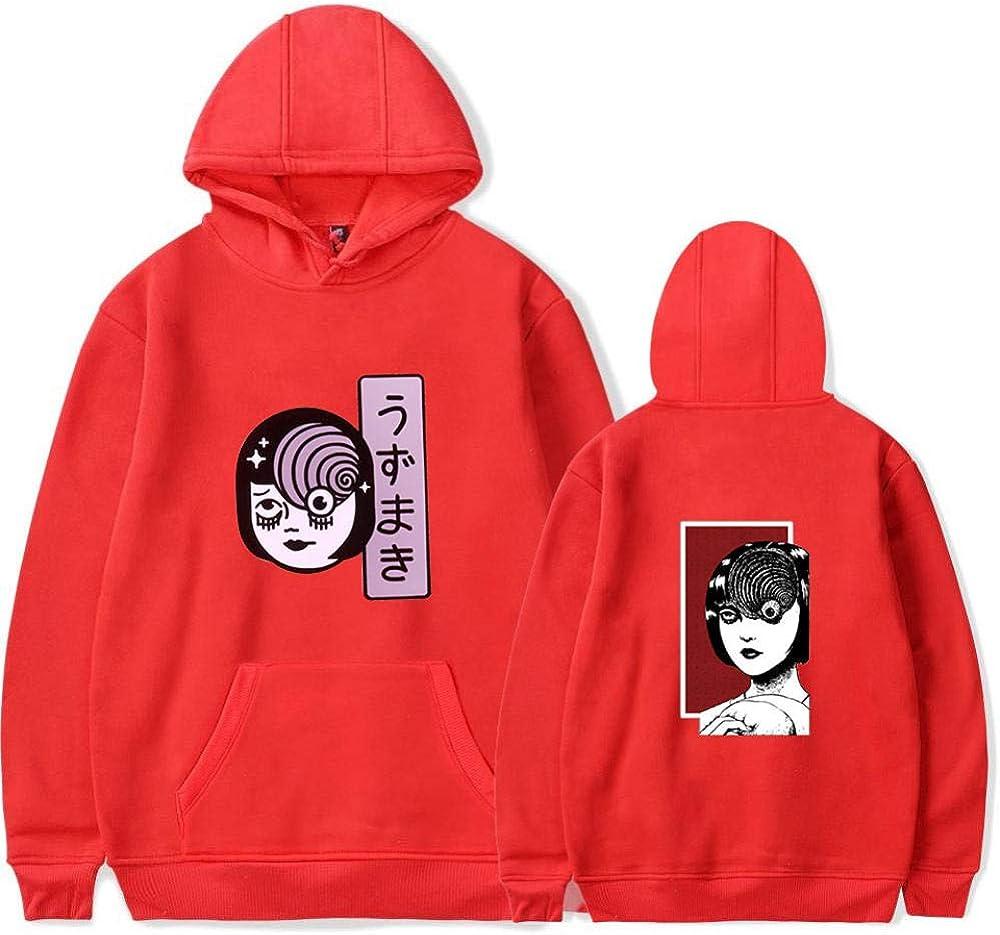 MSLFZ Felpe con Cappuccio,Divertente Anime Junji Ito Uomo//Donna con Cappuccio con Stampa 3D di Grandi Dimensioni Unisex