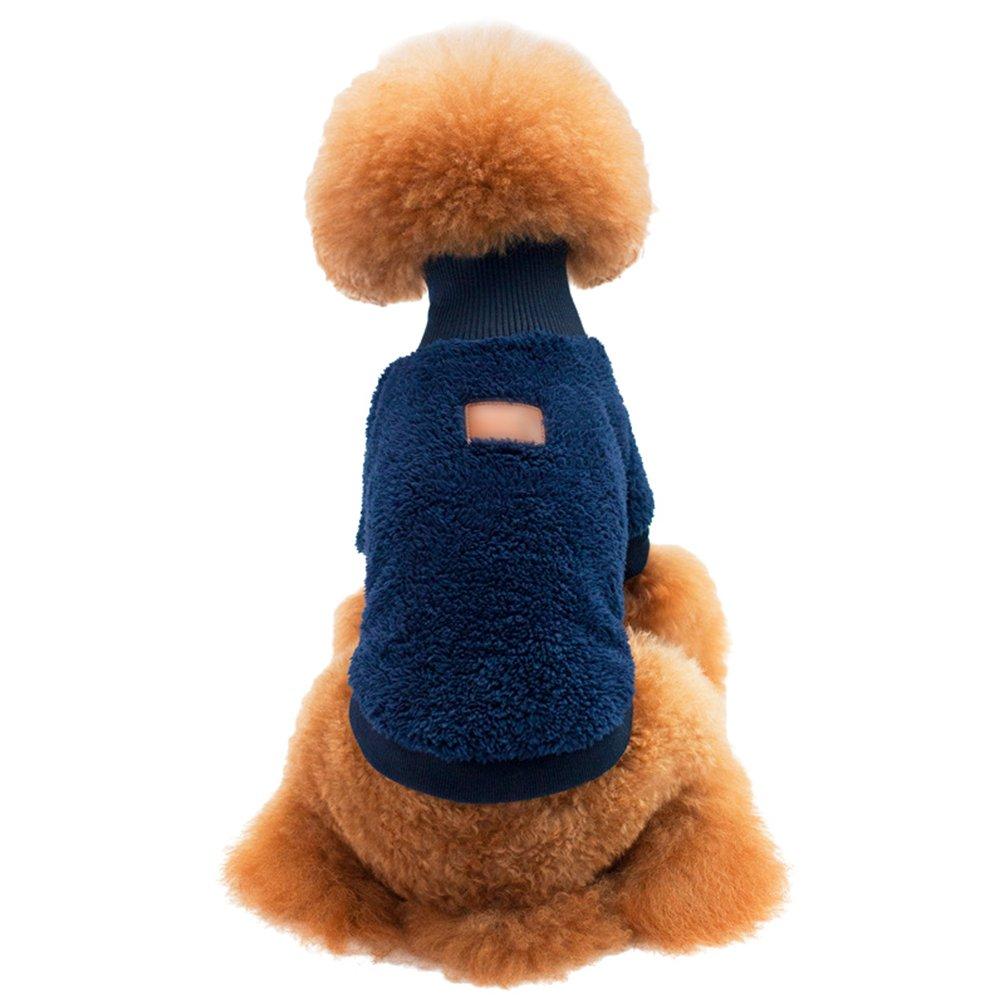 Yuncai Morbido Accogliente Cane Maglione Velluto Corallo Caldo Cappuccio Cappotto Animali Domestici Verde 2XL