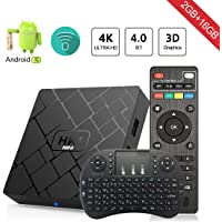 Android 8.1 TV Box Aumkoo HK1 Mini Inteligente de cuatro núcleos 64 bits 2 GB de RAM + 16GB ROM 4K TV Reproductor de medios H.265 Descodificación 2.4GHz WiFi - 2G / 16G