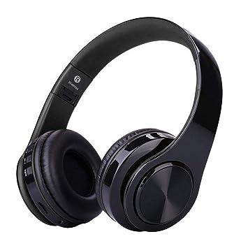 Auriculares Bluetooth con Micrófono Hi-Fi Deep Bass,ZLX Inalámbricos Headphones Plegables con Cancelación de Ruido Compatible con Smartphones, Tabletas, ...