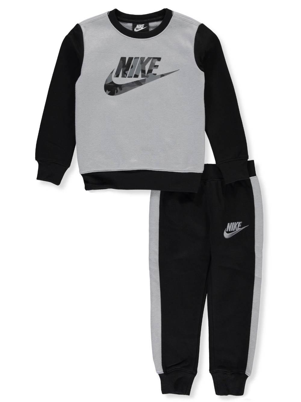 NIKE Boys' 2-Piece Sweatsuit Pants Set - Black, 4 by Nike