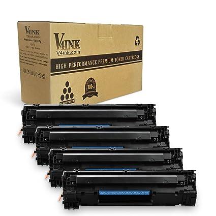 V4INK 1 de Repuesto para HP, CB436 A, Canon 125 Cartucho de ...