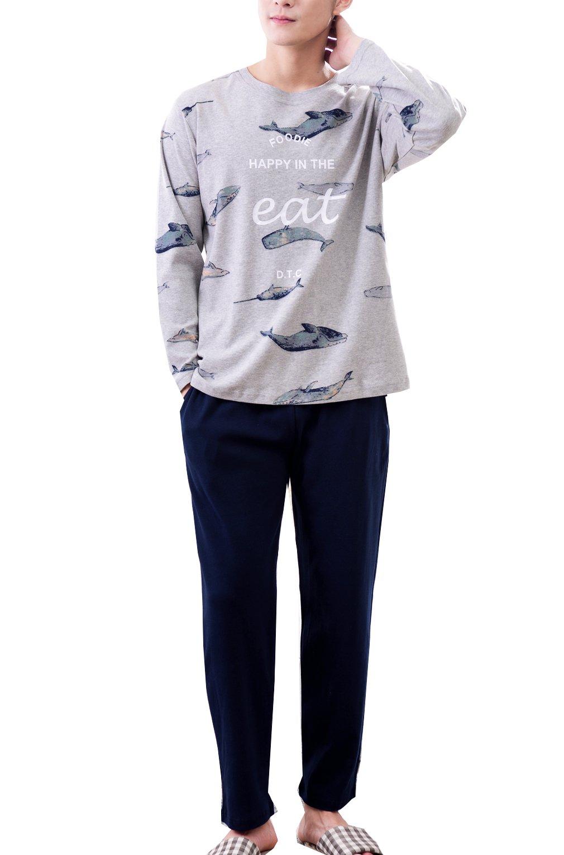 Leisure Home Big Boys Winter Spring Long Sleeve Cotton Pajama Sleepwear(10y-18y)