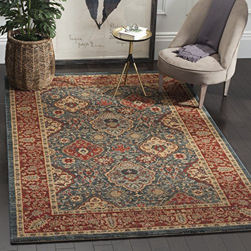 Mahal Rug Red (Safavieh Mahal Collection MAH655C Navy and Red Area Rug, 8' x 10')