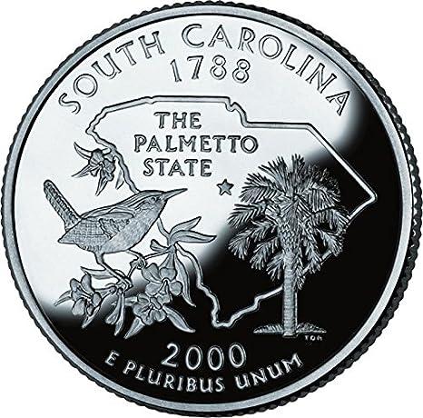 Roll of 2000 P South Carolina Quarters Bank Roll