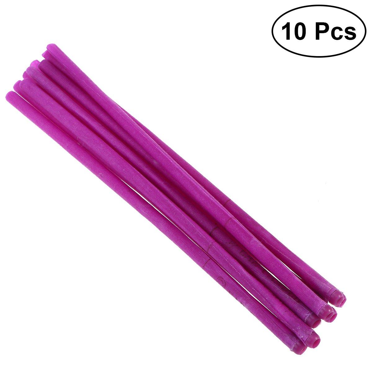 Healifty 10pcs cera de abeja vela conos kit de eliminación de velas de cera del oído (púrpura)