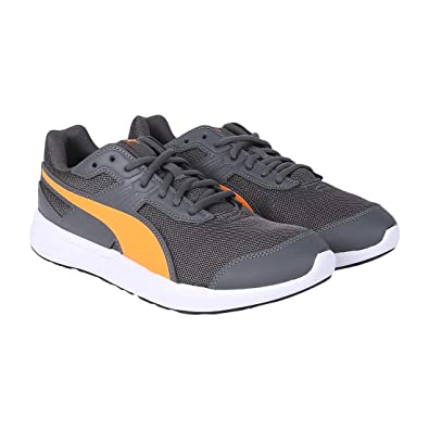 check out e063e a3d0f Puma Unisex s Escaper Mesh Iron Gate-Shocking Orange-P Sneakers  Buy Online  at Low Prices in India - Amazon.in