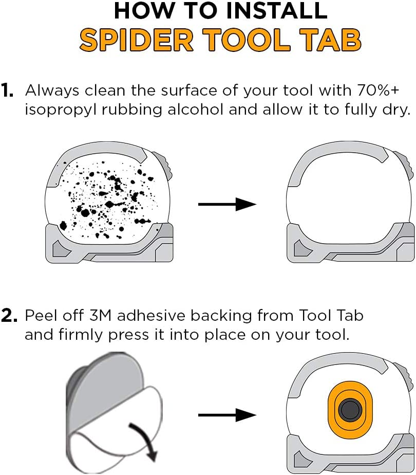 Spider Tool Holster TAPE MEASURE SET Securely hold and quickly access your Tape Measure