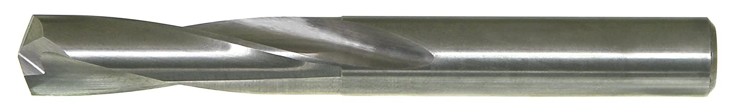 Slow Spiral Flute Drillco 720 Series Solid Carbide Short Length Drill Bit 135 Degree Split Point Round Shank Bright Finish 1//2 Size Uncoated