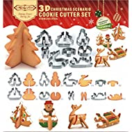 AceQiCheng 3D Christmas Stereo Cookies Cake Molds Stainless Steel Cookies Molds
