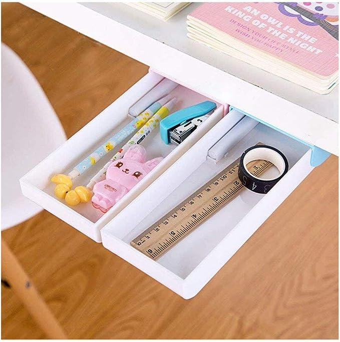 Under Desk Table Drawer Tray Organizer Hidden Storage Box Self Adhesive Office J