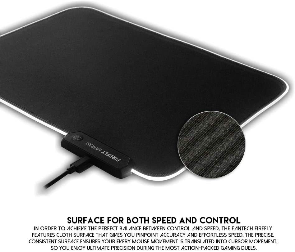 DP-iot HOT-FANTECH MP351 USB Wired Glow Mouse Pad Oversized Gaming Mouse Pad