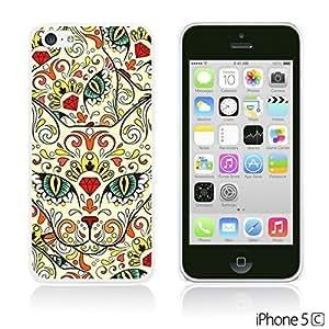 OnlineBestDigital - Skull Pattern Hardback Case for Apple iPhone 5C - Sugar Skull Cat
