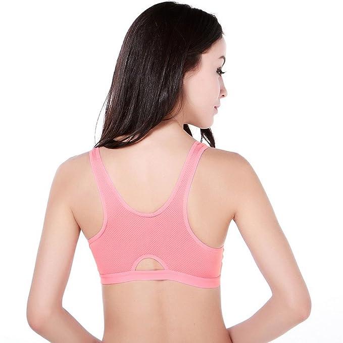 Aivtalk Sujetador Deportivo sin Aros Push-up Bra para Mujer Chica Fitness Running Color Rojo Talla L: Amazon.es: Deportes y aire libre