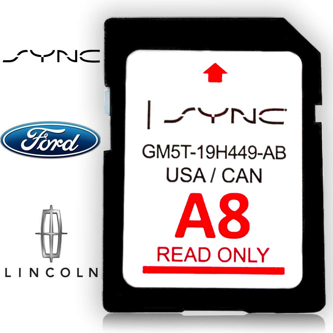 Ford & Lincoln A8 SYNC Navigation System Map Update for US & Canada NEW for 2017 LATEST SD Card for F150 Escape Explorer Flex Fusion Taurus Mustang & More GM5T-19H449-AB