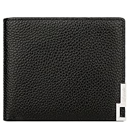 Dante Men's 2016 Work Metal Decor Clips Clutch Card Holder Genuine Leather Wallet Coffee