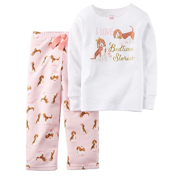 8a244a2c3 Amazon.com  Carters Baby Girls 2-Piece Cotton   Fleece PJs Bedtime ...