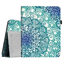 Fintie iPad 1 Folio Case - Slim Fit Vegan Leather Stand Cover with Stylus Holder for Apple iPad 1 1st Generation, Emerald Illusions