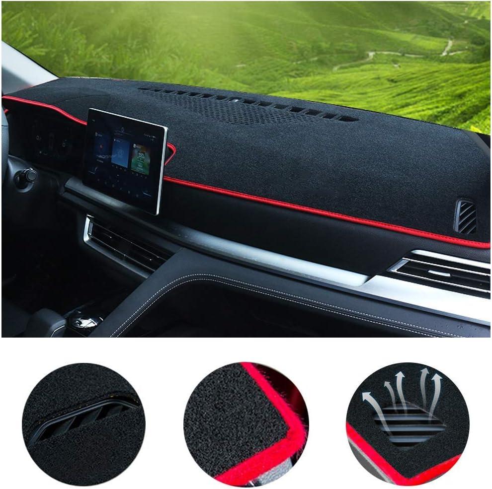 SureKit Car Custom Dash Cover for Kia Forte 2019-2020 Auto Dashboard Pad DashMat Dash Board Cover (red line)