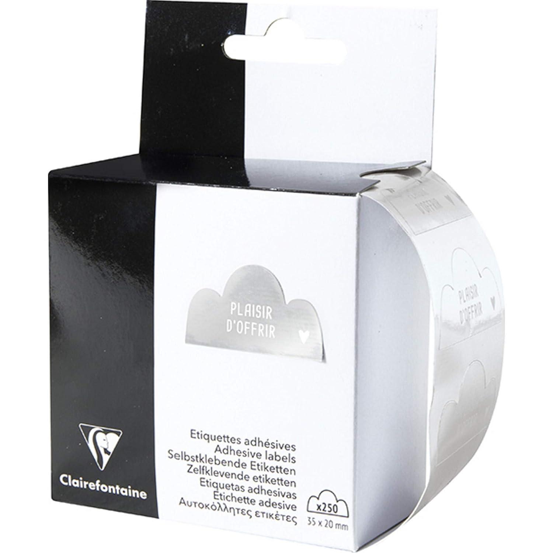 Clairefontaine 617046C - Caja de 250 etiquetas para regalo, placer de regalar: Amazon.es: Oficina y papelería