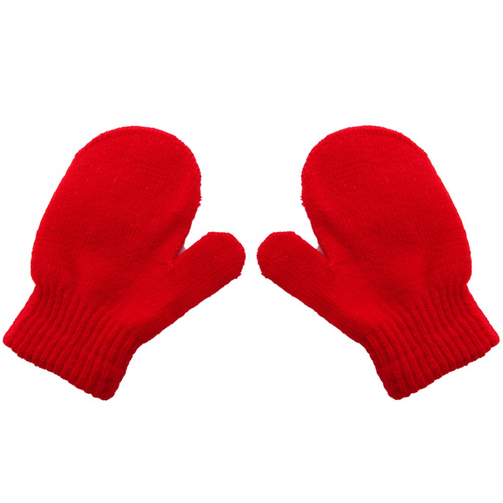 LAYs Unisex Baby Knit Gloves Warm Soft Candy Colors Mittens for Boys Girls Winter Outdoor