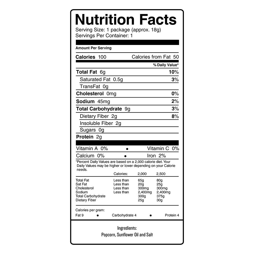 SKINNYPOP Original Popped Popcorn, 100 Calorie Bags, Individual Bags, Gluten Free Popcorn, Non-GMO, No Artificial Ingredients, A Delicious Source of Fiber, 0.65 Ounce (Pack of 30) by SkinnyPop (Image #1)