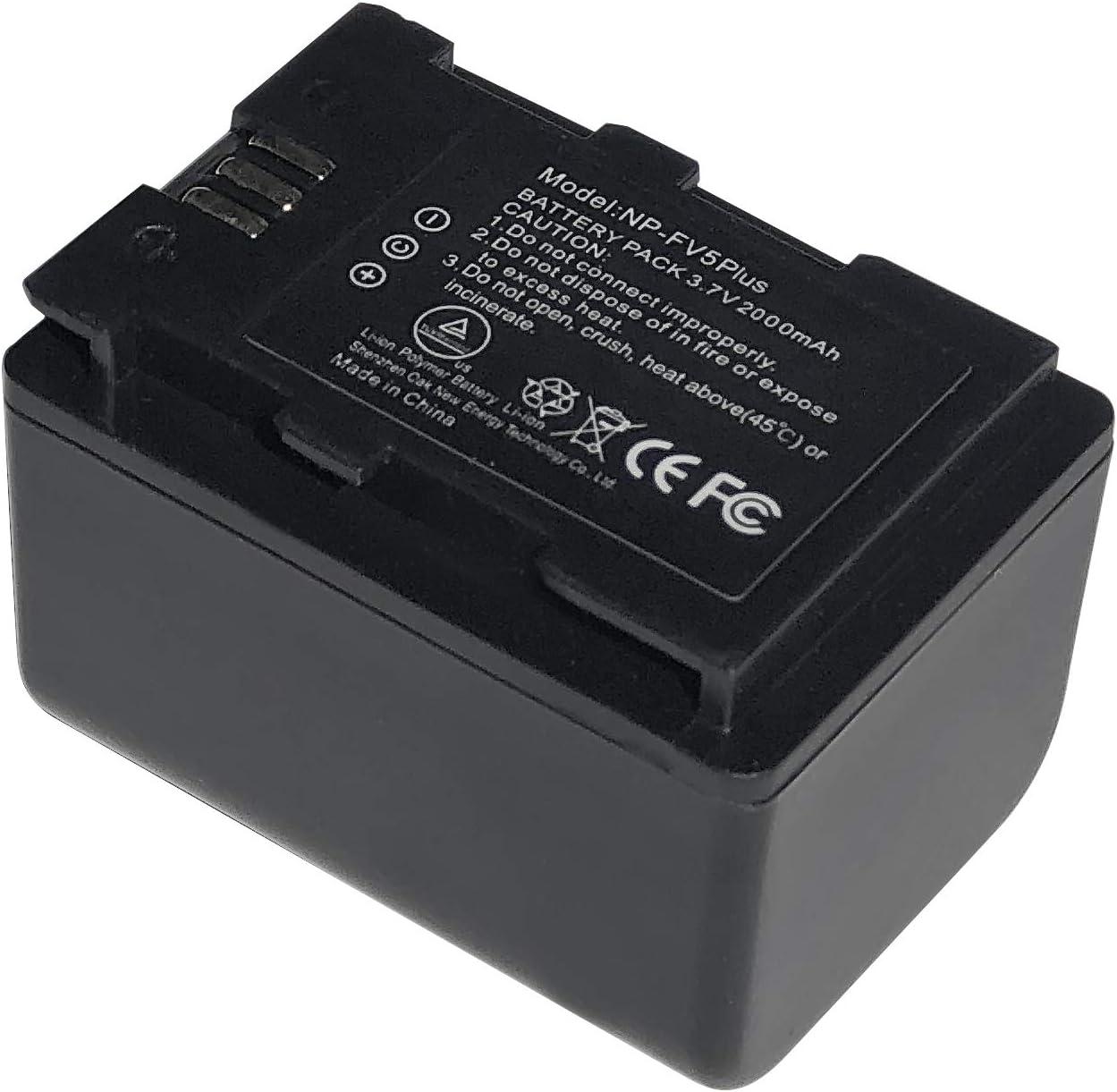Andoer NP-FV5 Plus Battery Pack 3.7V 2000mAh Rechargeable Battery for Andoer 524KM 4K WiFi 1080P Digital Video Camera for Sony DV