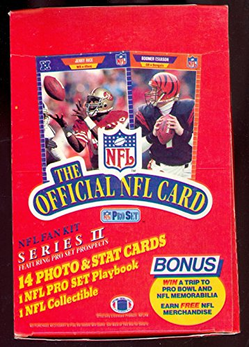 (1989 Pro Set Football Wax Pack Box ProSet Card Series 2 Barry Sanders Rookie )