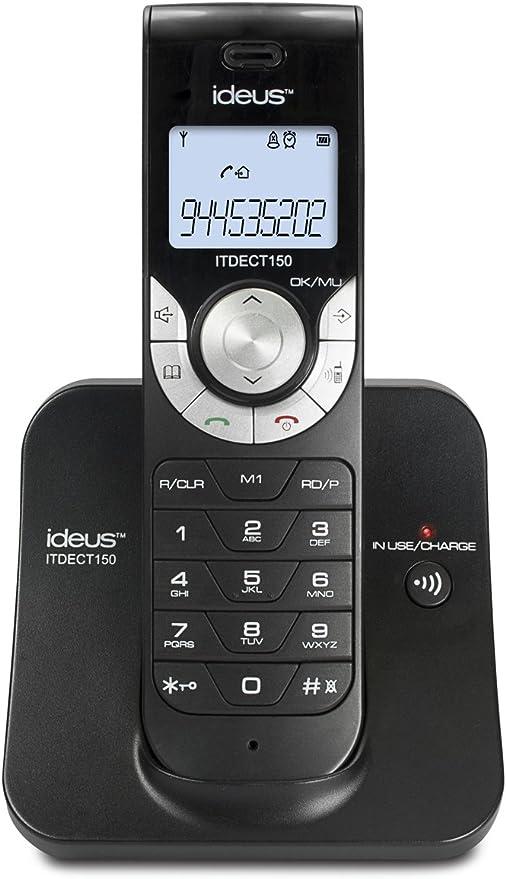 Ideus ITDECT150- Teléfono Inalámbrico Digital Dect Negro: Amazon.es: Electrónica