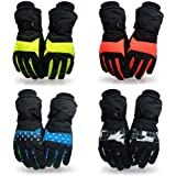 Sanwooden Practical Skiing Gloves Thermal Insulated Winter Snow Outdoor Sports Men Women Skiing Snowboard Gloves Winter Essential Gloves