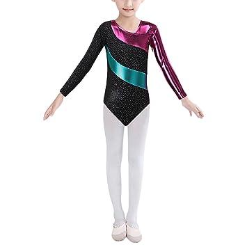HUANQIUE Gymnastik Turnanzug Mädchen Leotard 2-16 Jahre: Amazon.de ...