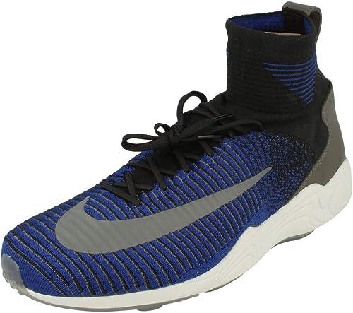 Nike Zoom Mercurial XI Flyknit Deep Royal Blue Black Volt   Footshop