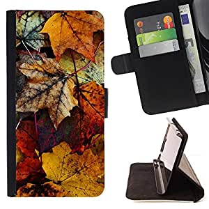 Jordan Colourful Shop - yellow gold autumn fall nature For Apple Iphone 5 / 5S - Leather Case Absorci???¡¯???€????€????????&cen