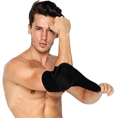 Mcolics Adjustable Elbow Brace Compression Support Sleeve for Tendonitis Prevention & Recovery, Tennis Elbow, & Golf Elbow Treatment – Reduce Joint Pain During ANY Activity! (Black) : Sports & Outdoors