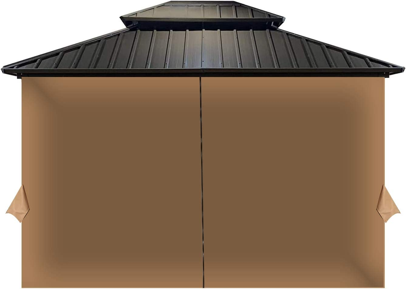 COWVIE Gazebo Curtain Replacement Universal 4-Panel Sidewalls 12' x 12' (Only Curtain)