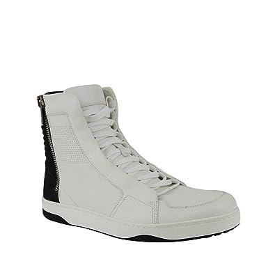 c551796c7de75 Amazon.com: Gucci Zip Up Black/White Suede/Leather Hi Top Sneakers ...