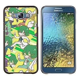 TECHCASE---Cubierta de la caja de protección para la piel dura ** Samsung Galaxy E7 E700 ** --Modelo retro