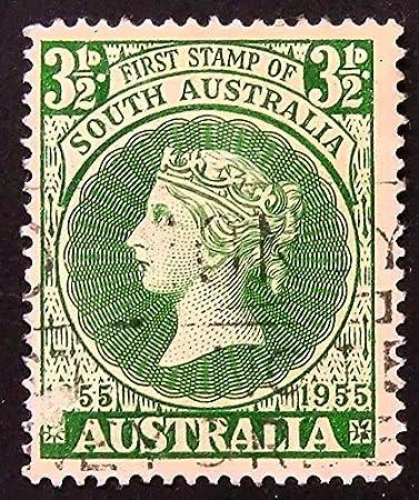 Primer sello de Australia del Sur 1855 – 1955 – con sello de ...