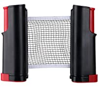 Retractable Adjustable Table Tennis Nets Post Set Replacement Ping Pong Net and Post Indoor Outdoor Game Accessories