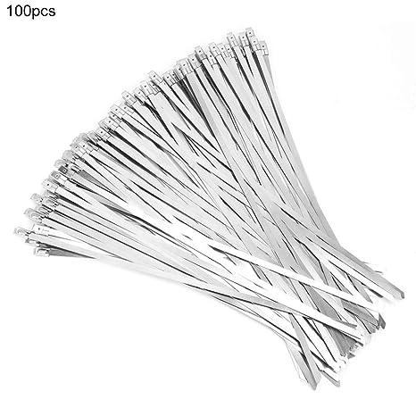 Metal Zip Tie - 100pcs Cable de Acero Inoxidable Bridas ...