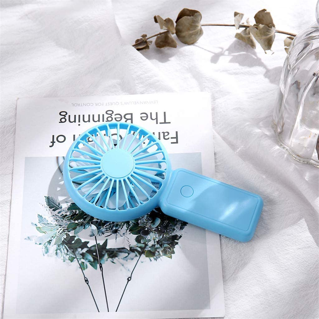 Solid 3-speed Wind Adjustable Small Personal Portable Desk Stroller Table Fan with USB Electric Cooling Fan for Office Room Outdoor Household Traveling Camping Gym White Iusun Mini Handheld USB Fan