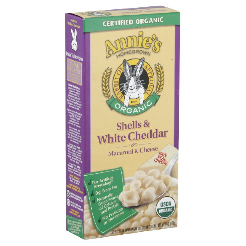 Annie's Homegrown Pasta with Cheddar Organic, 6-ounces (Pack of6)