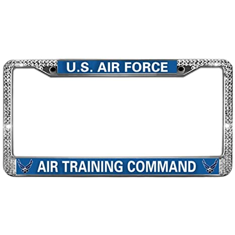 Amazon com: GND US AIR Force Bling License Plate Frame,AIR